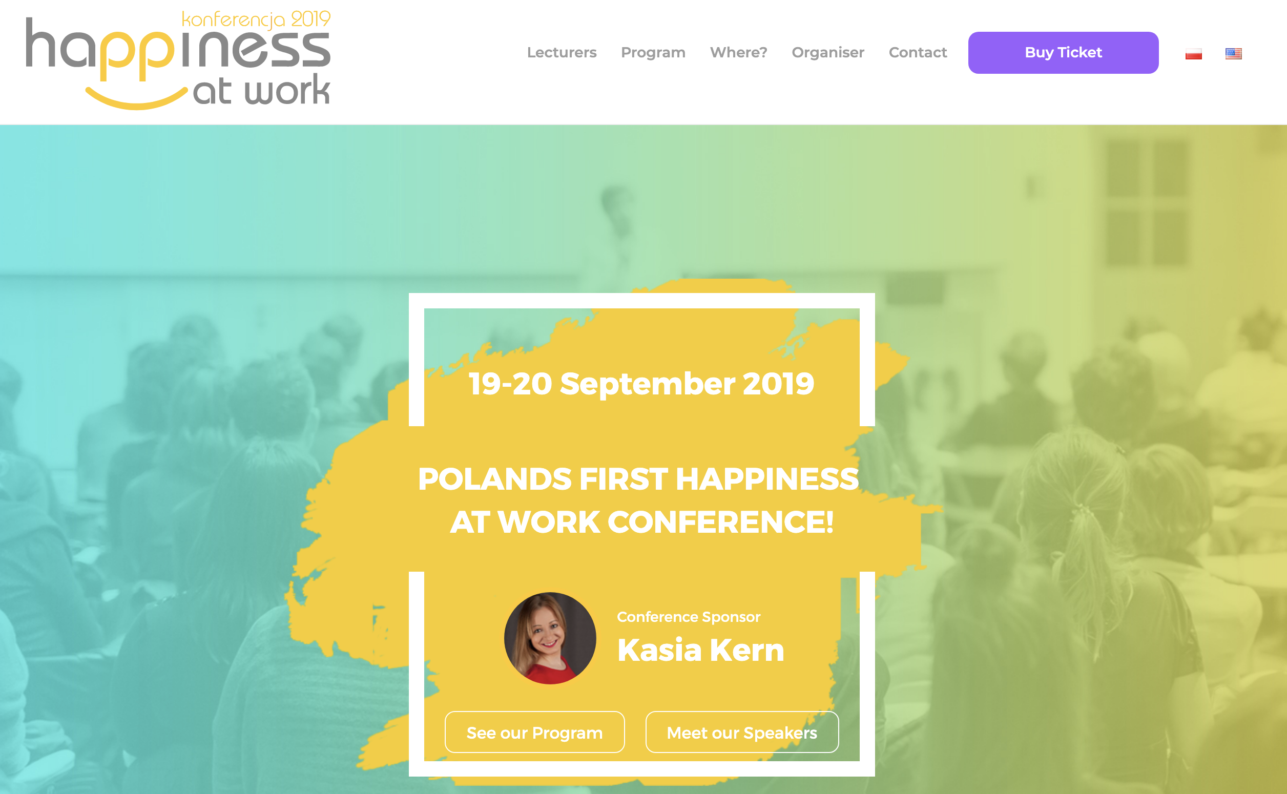 Happiness at Work Conference in Poland, first ever!